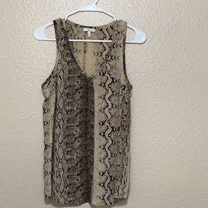 Joie snake print blouse silk sleeveless Size S